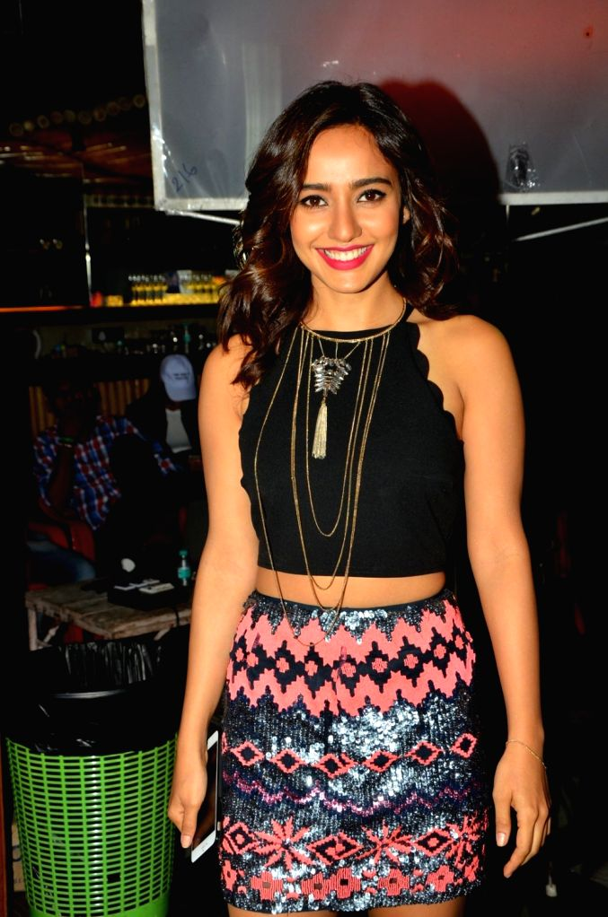 Actress Neha Sharma during the video shoot of a song for upcoming film Tum Bin 2 in Mumbai on Sept. 9, 2016. - Neha Sharma