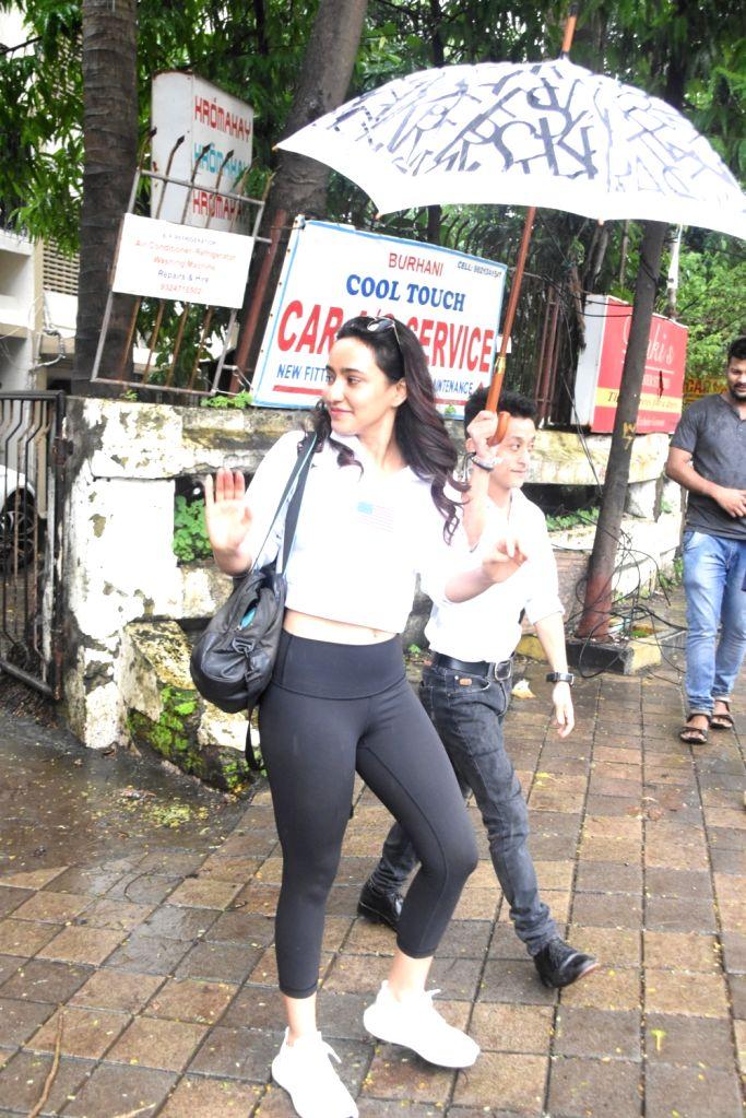 Actress Neha Sharma seen at a Mumbai salon on Aug 11, 2019. - Neha Sharma
