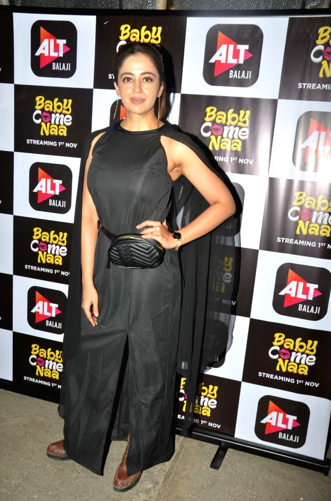 "Actress Nehha Pendse at the screening of ALT Balaji's ""Baby Come Naa"" web series in Mumbai on Oct 30, 2018. - Nehha Pendse"