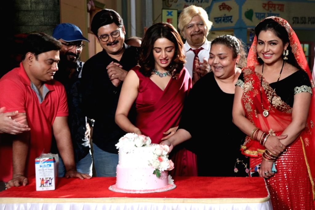 Actress Nehha Pendse on Thursday started shooting for the popular sitcom Bhabiji Ghar Par Hai as Anita Bhabi. - Nehha Pendse
