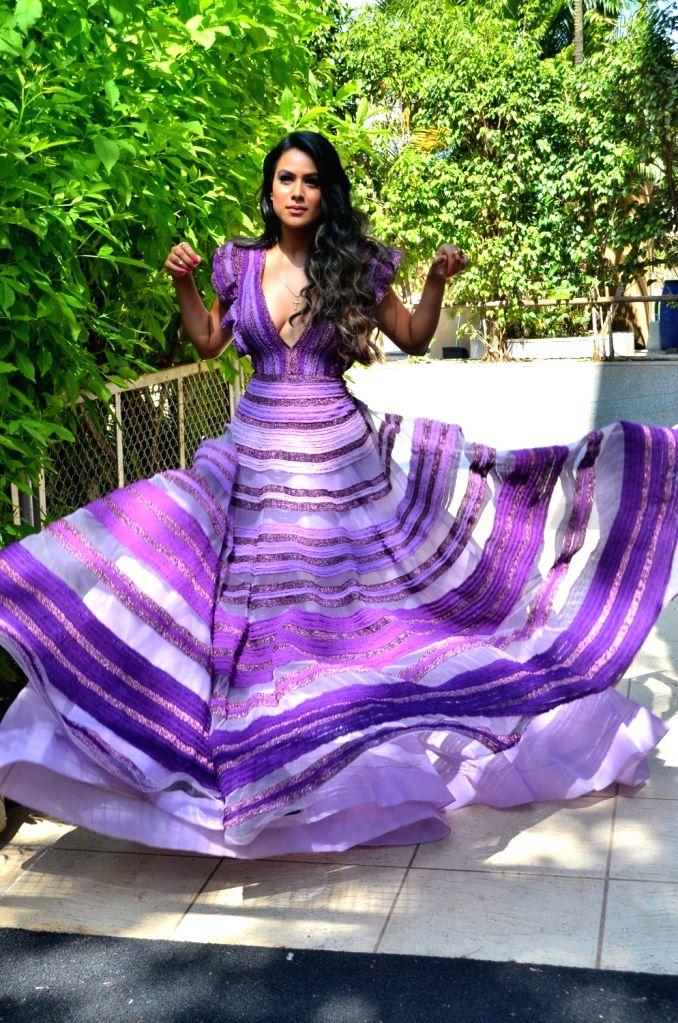 "Actress Nia Sharma during the promotion of her upcoming web series ""Jamai Raja 2.0"", in Mumbai, on Aug 29, 2019. - Nia Sharma"