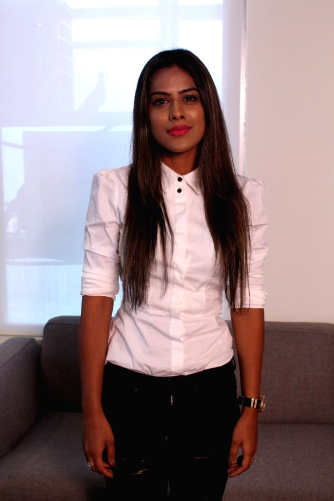 "Actress Nia Sharma during the promotional interview of web series ""Twisted"" in Mumbai on March 25, 2017. - Nia Sharma"