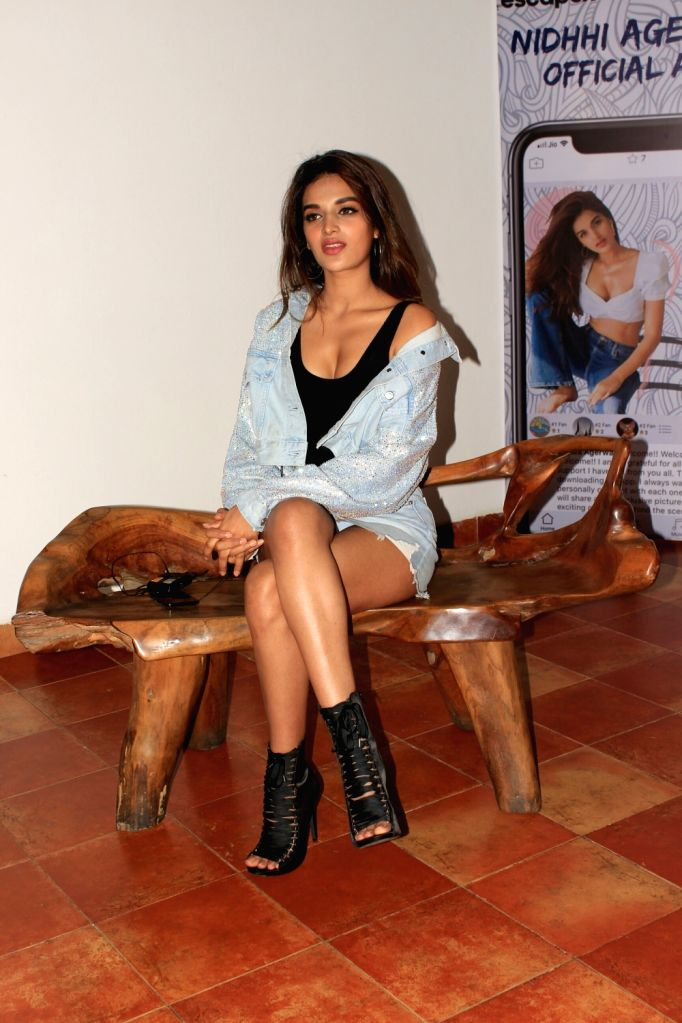 Actress Nidhhi Agerwal seen at a programme in Bandra, Mumbai on May 31, 2018. - Nidhhi Agerwal
