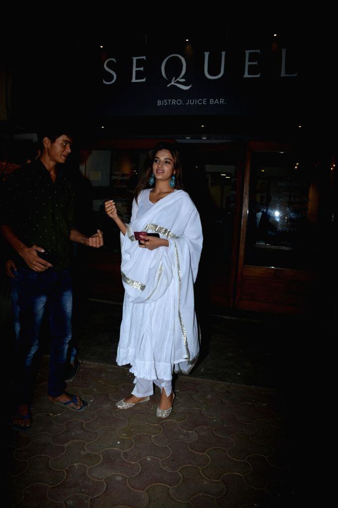 Actress Nidhhi Agerwal seen at Mumbai's Bandra on Dec 12, 2018. - Nidhhi Agerwal