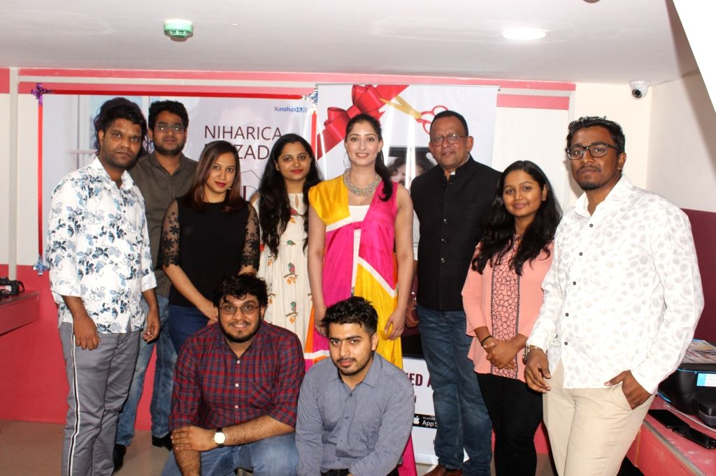 Actress Niharica Raizada at the launch of her own personalised app in Mumbai, on March 8, 2019. - Niharica Raizada