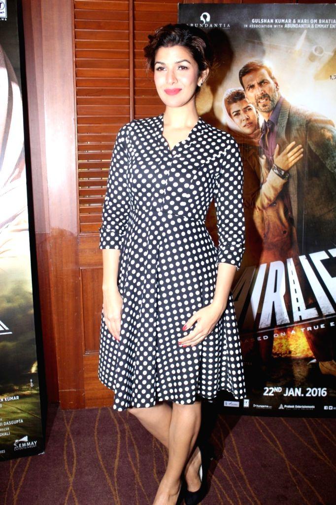 Actress Nimrat Kaur during the media interaction of film Airlift in Mumbai on January 15, 2016. - Nimrat Kaur
