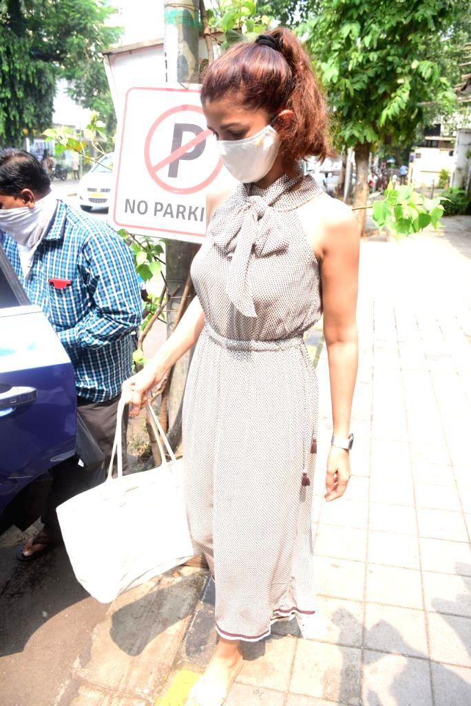 Actress Nimrat Kaur seen at Bandra in Mumbai on Oct 13, 2020. - Nimrat Kaur
