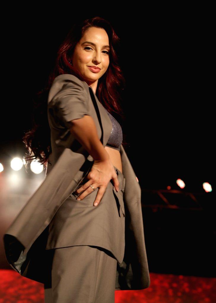 Actress Nora Fatehi at Audi Peaklife Fashion Capsule in New Delhi, on April 5, 2019. - Nora Fatehi
