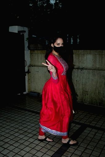 Actress Nora Fatehi seen at the office of T-Series at Andheri in Mumbai on Sep 12, 2020. - Nora Fatehi