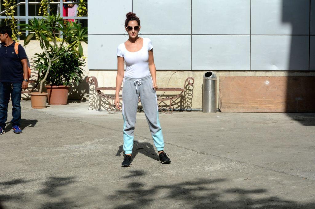 Actress Nora Fatehi seen in Mumbai's Andheri, on May 15, 2019. - Nora Fatehi
