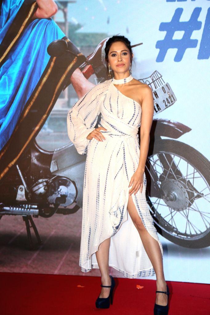 "Actress Nushrat Barucha during promotions of movie ""Dream Girl"" in Mumbai on Sep 7, 2019. - Nushrat Barucha"