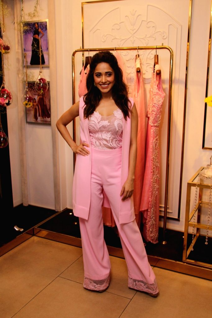 Actress Nushrat Bharucha during a programme in Mumbai on Aug 10, 2018. - Nushrat Bharucha