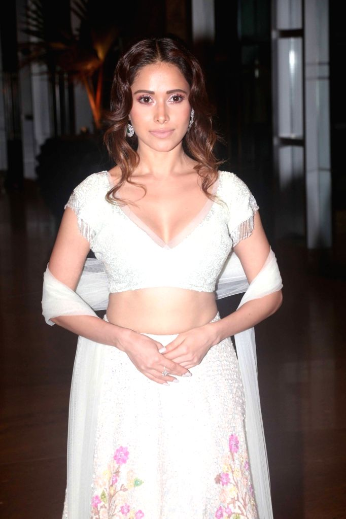 Actress Nushrat Bharucha during sangeet ceremony of All India Football Federation (AIFF) President Praful Patel's daughter Poorna Patel  in Mumbai on July 19, 2018. - Nushrat Bharucha, Praful Patel and Poorna Patel