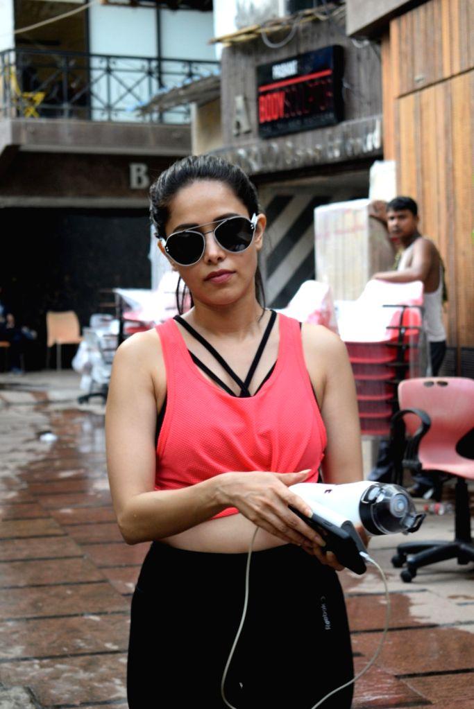 Actress Nushrat Bharucha seen at a gym in Mumbai on June 4, 2019. - Nushrat Bharucha