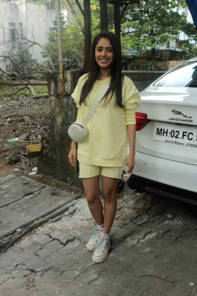 Actress Nushrat Bharucha seen at Bandra in Mumbai on Nov 19, 2020. - Nushrat Bharucha