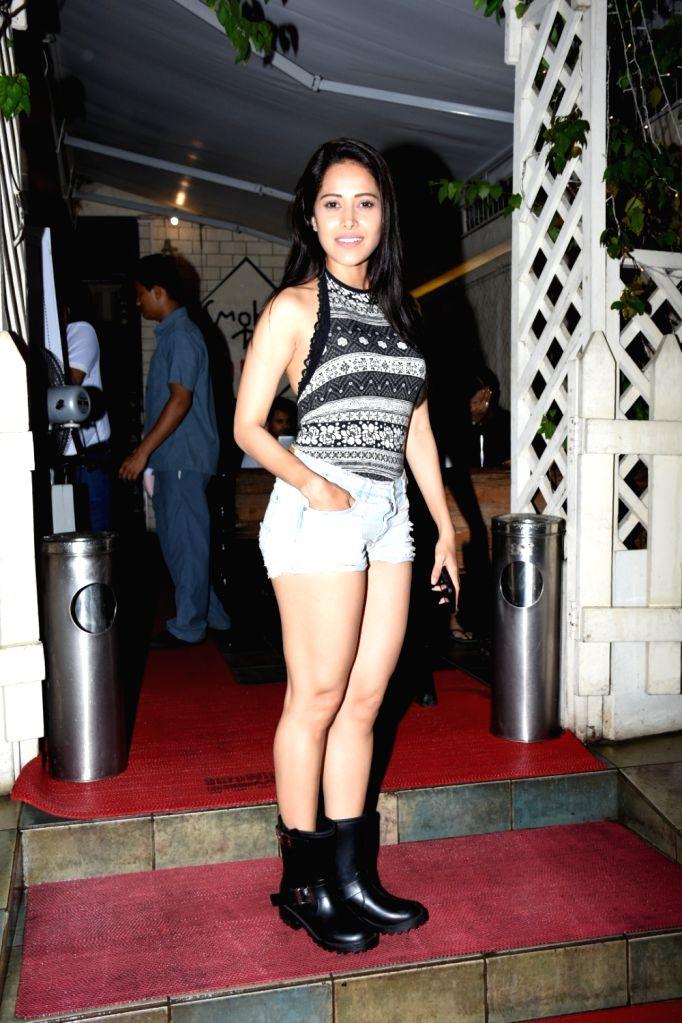 Actress Nushrat Bharucha seen at Bandra in Mumbai on June 14, 2019. - Nushrat Bharucha
