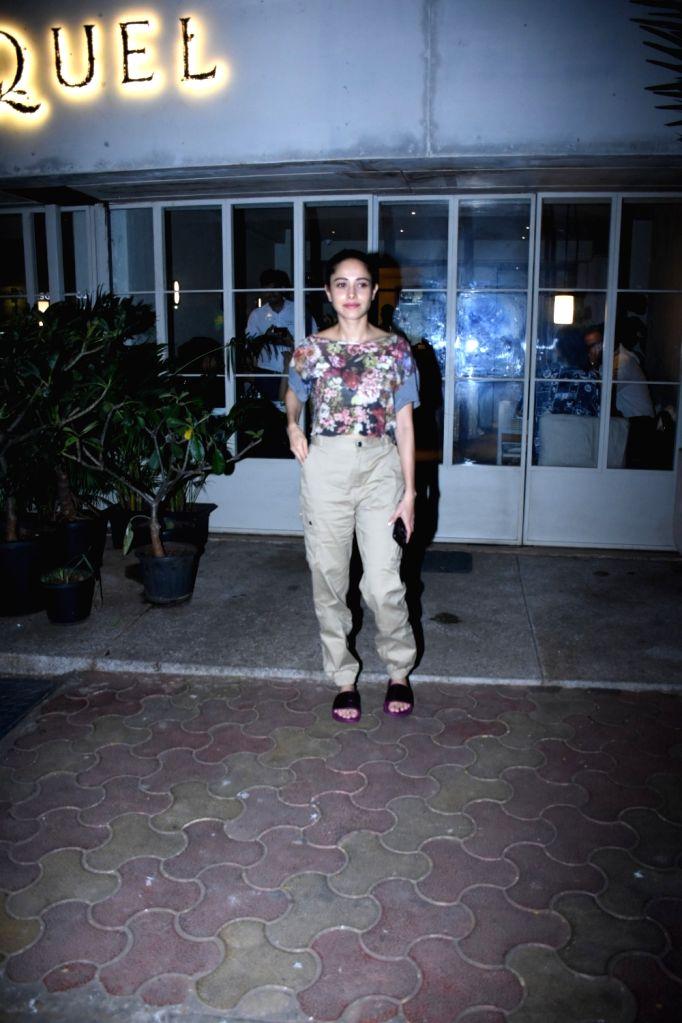 Actress Nushrat Bharucha seen at Bandra in Mumbai on Dec 4, 2019. - Nushrat Bharucha