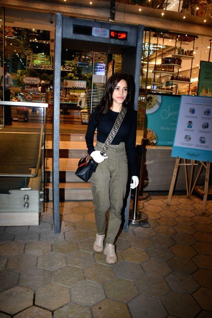 Actress Nushrat Bharucha seen at Food Hall khar in Mumbai on March 18, 2020. - Nushrat Bharucha