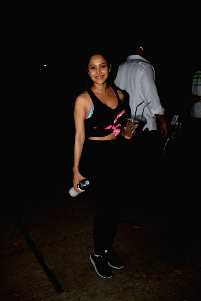 Actress Nushrat Bharucha seen outside a gym at Juhu, in Mumbai on June 8, 2019. - Nushrat Bharucha