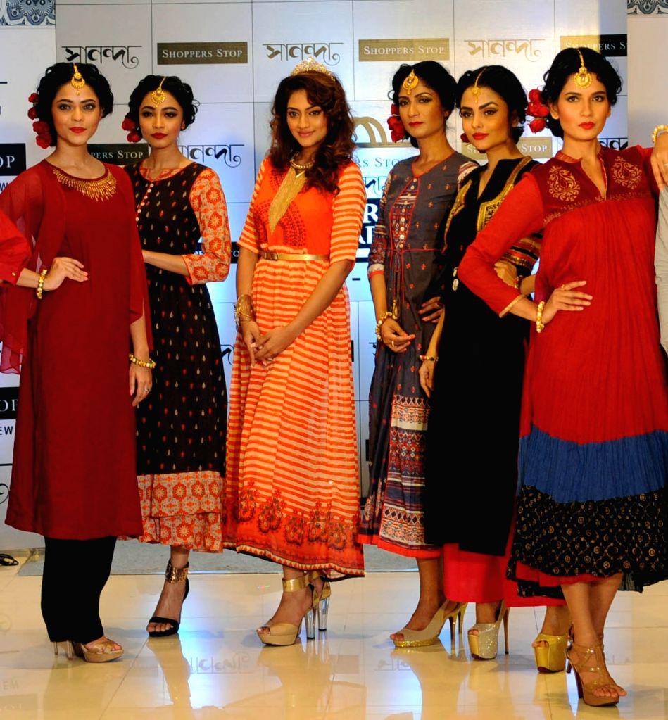 Actress Nusrat Jahan during a programme in in Kolkata, on Sept 15, 2016. - Nusrat Jahan