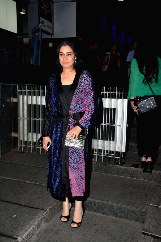 Actress Padmini Kolhapure arrives to attend his birthday party, in Mumbai on Nov. 1, 2018. - Padmini Kolhapure