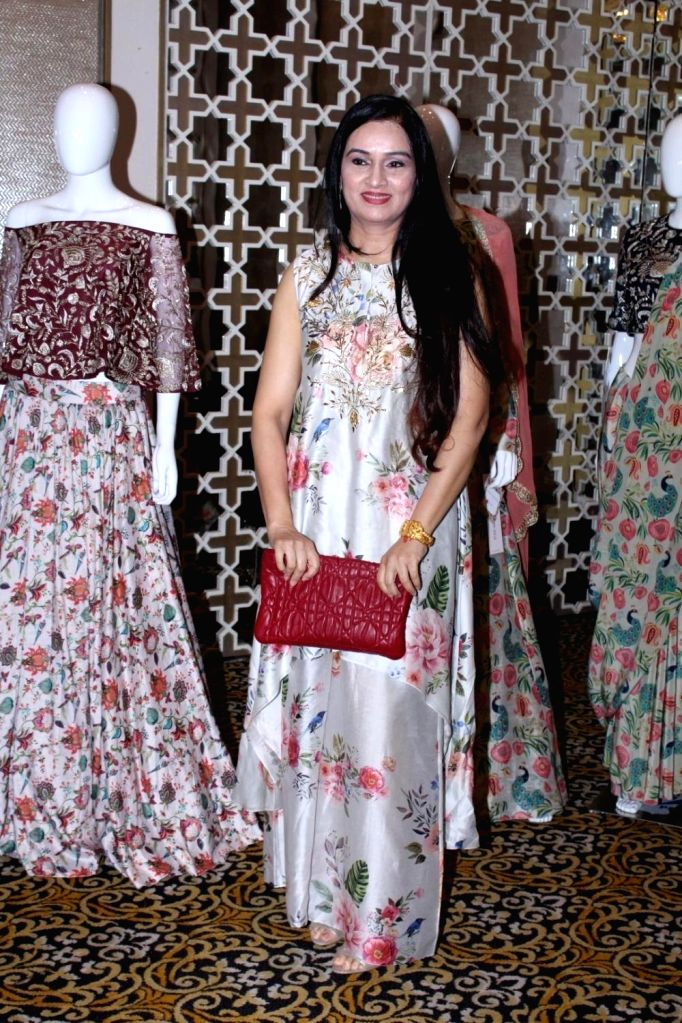Actress Padmini Kolhapure at the preview of Payal Singhal's Collection 2017 in Mumbai on Sept 1, 2017. - Padmini Kolhapure