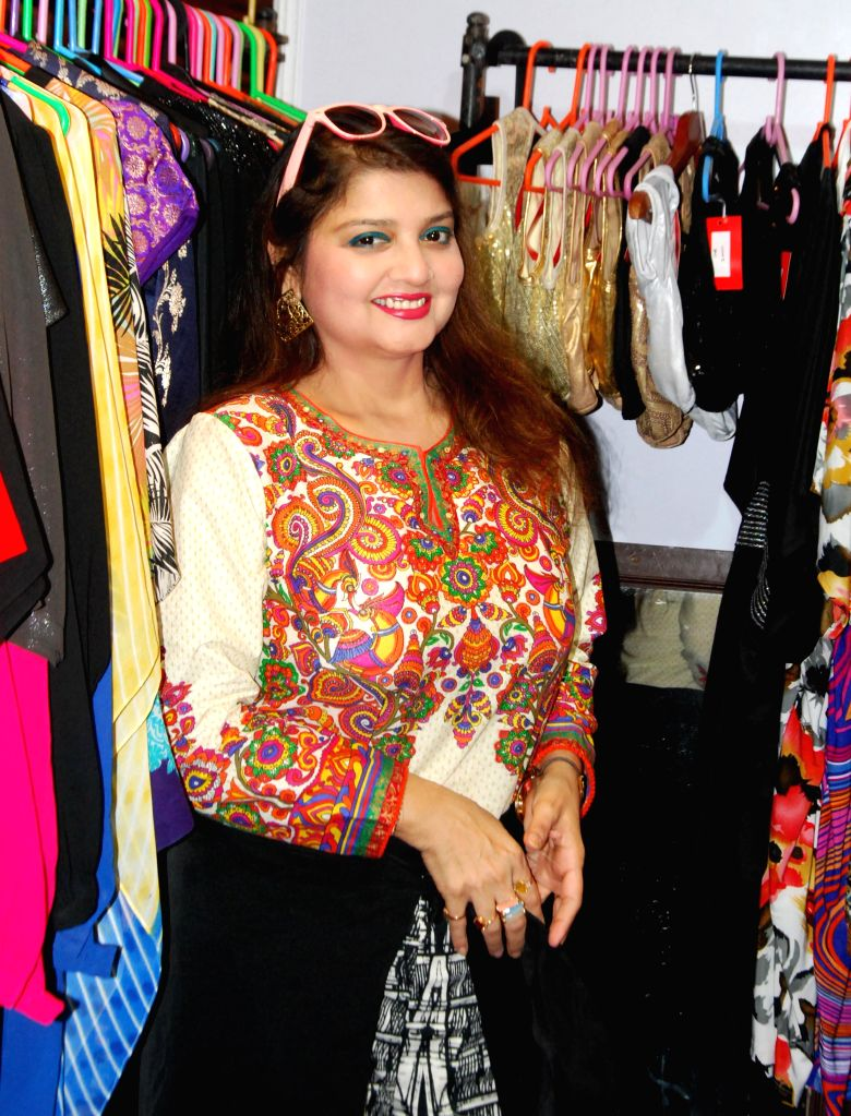 Actress Pallavi Chatterjee at an art, fashion and lifestyle exhibition in Kolkata on Aug 29, 2014.