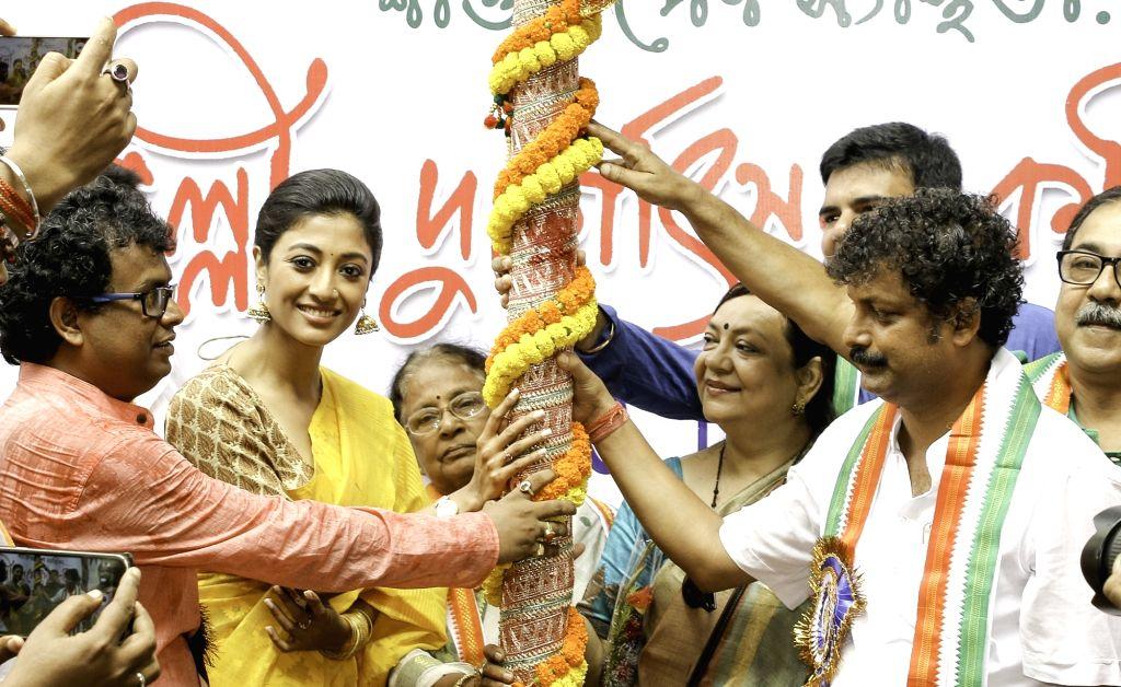 Actress Paoli Dam during Khuti Puja ahead of Durga Puja in Kolkata on July 24, 2016. - Paoli Dam