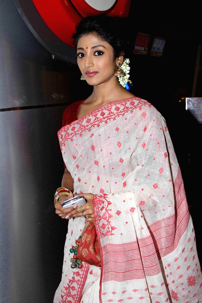 Actress Paoli Dam during the premiere of Bengali film `Hercules` in Kolkata on Aug. 29 2014. - Paoli Dam
