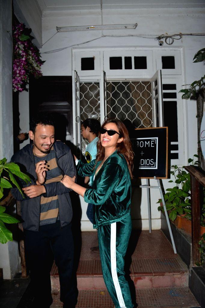 Actress Parineeti Chopra and Rohan Shresth seen at Krome studio in Mumbai's Bandra on Feb 21, 2019. - Parineeti Chopra
