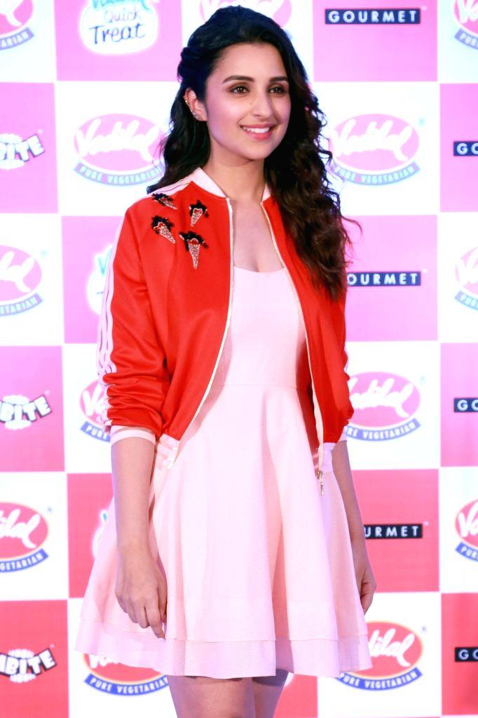 Actress Parineeti Chopra at the launch of the new flavour of Vadilal's ice cream, in New Delhi on April 6,2016. - Parineeti Chopra