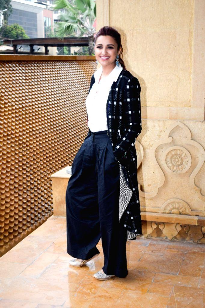 "Actress Parineeti Chopra during a media interaction of her upcoming film ""Namaste England"" in Mumbai's Bandra on Oct 5, 2018. - Parineeti Chopra"