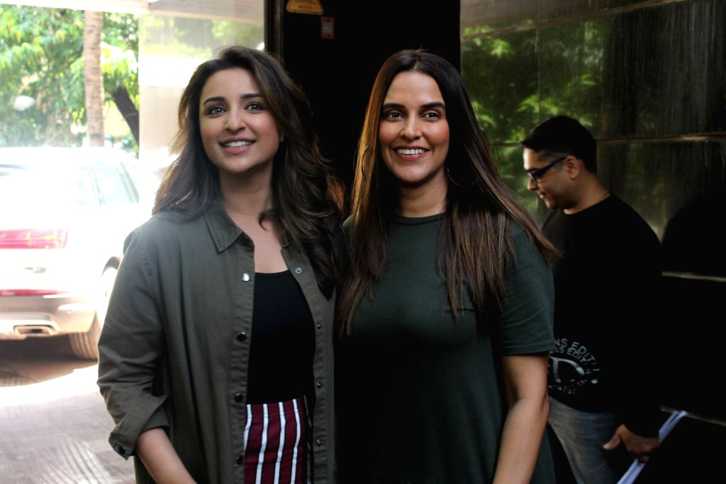 Actress Parineeti Chopra during audio talk show with Neha Dhupia titled, No Filter Neha, in Mumbai on June 9, 2017. - Parineeti Chopra and Neha Dhupia