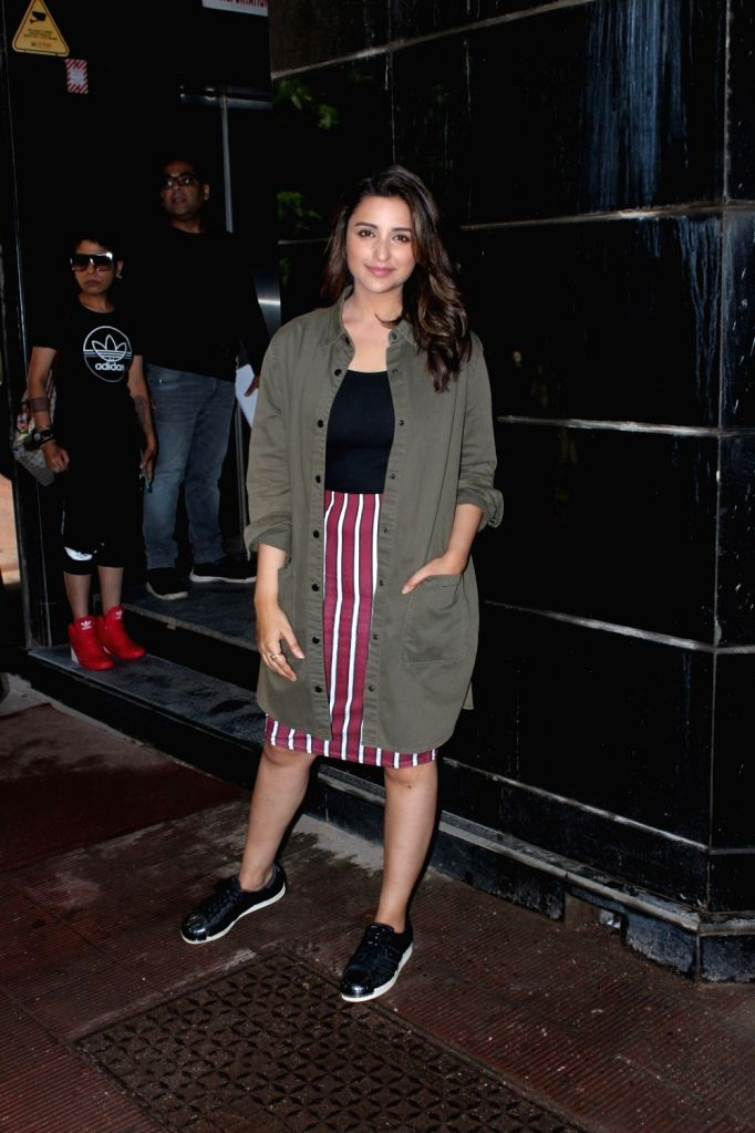 Actress Parineeti Chopra during Neha Dhupia`s audio talk show  titled, No Filter Neha, in Mumbai on June 9, 2017. - Parineeti Chopra