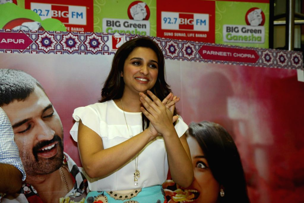 Actress Parineeti Chopra during the promotion of film Daawat-e-Ishq at 92.7 BIG FM office in Mumbai on 10 Sept, 2014. - Parineeti Chopra