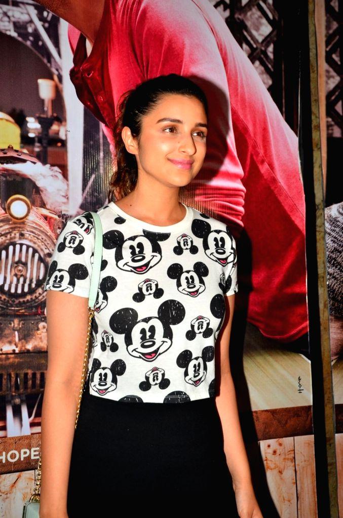 Actress Parineeti Chopra during the screening of film Ki & Ka, in Mumbai, on March 29, 2016. - Parineeti Chopra