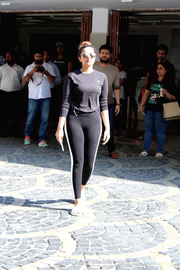 Actress Parineeti Chopra seen at a gym in Mumbai on March 29, 2019. - Parineeti Chopra