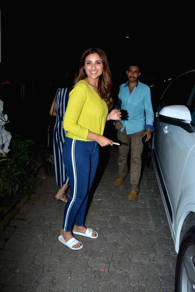 Actress Parineeti Chopra seen at Bandra in Mumbai, on Feb 15, 2019. - Parineeti Chopra