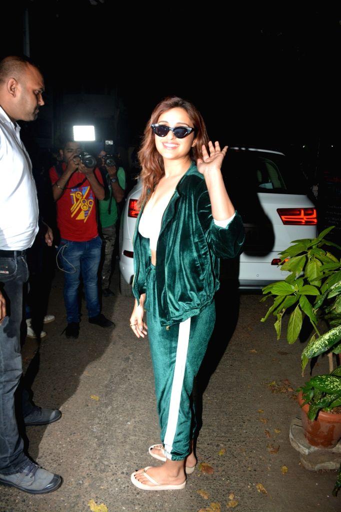 Actress Parineeti Chopra seen at Krome studio in Mumbai's Bandra on Feb 21, 2019. - Parineeti Chopra