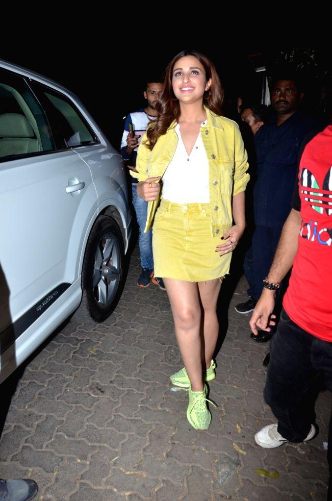 Actress Parineeti Chopra seen at Mumbai' Bandra on March 8, 2019. - Parineeti Chopra