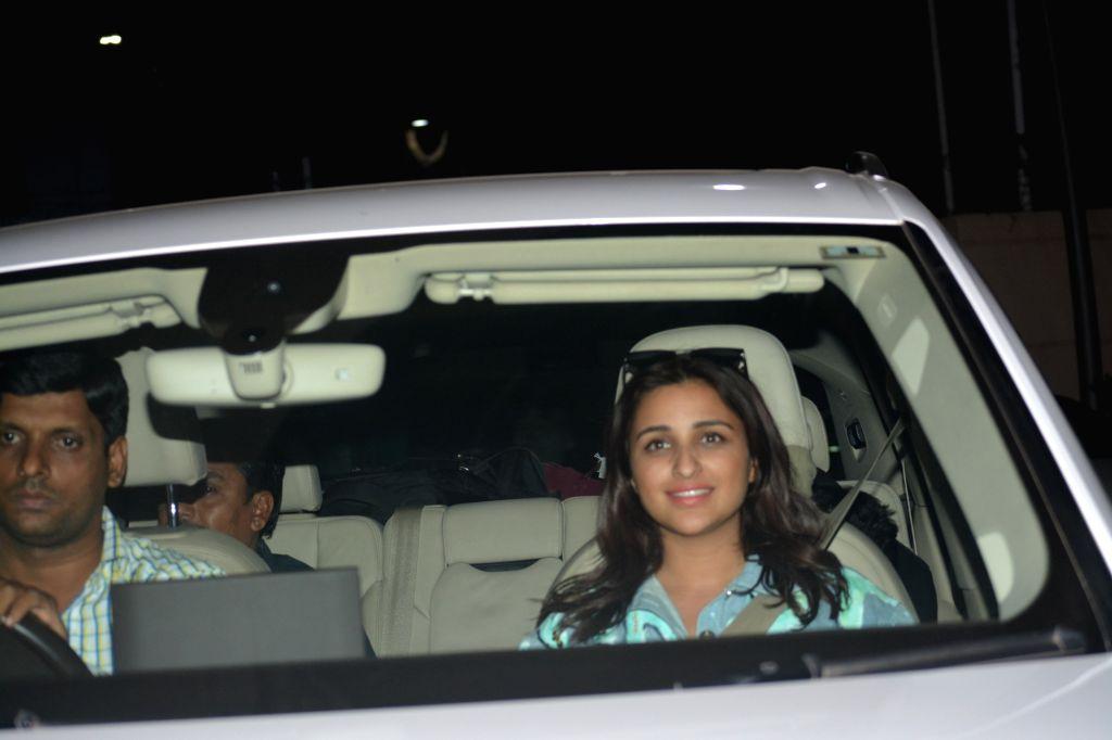 Actress Parineeti Chopra seen at Mumbai's airport on Dec 9, 2018. - Parineeti Chopra