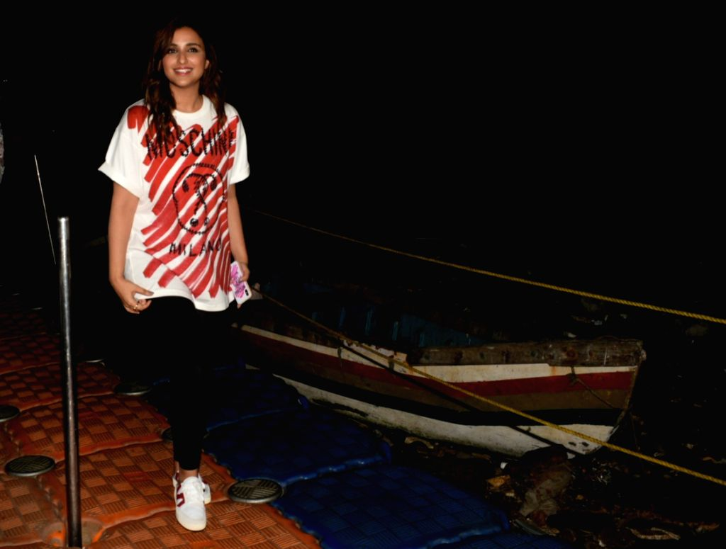Actress Parineeti Chopra seen at Mumbai's Bandra on April 28, 2019. - Parineeti Chopra