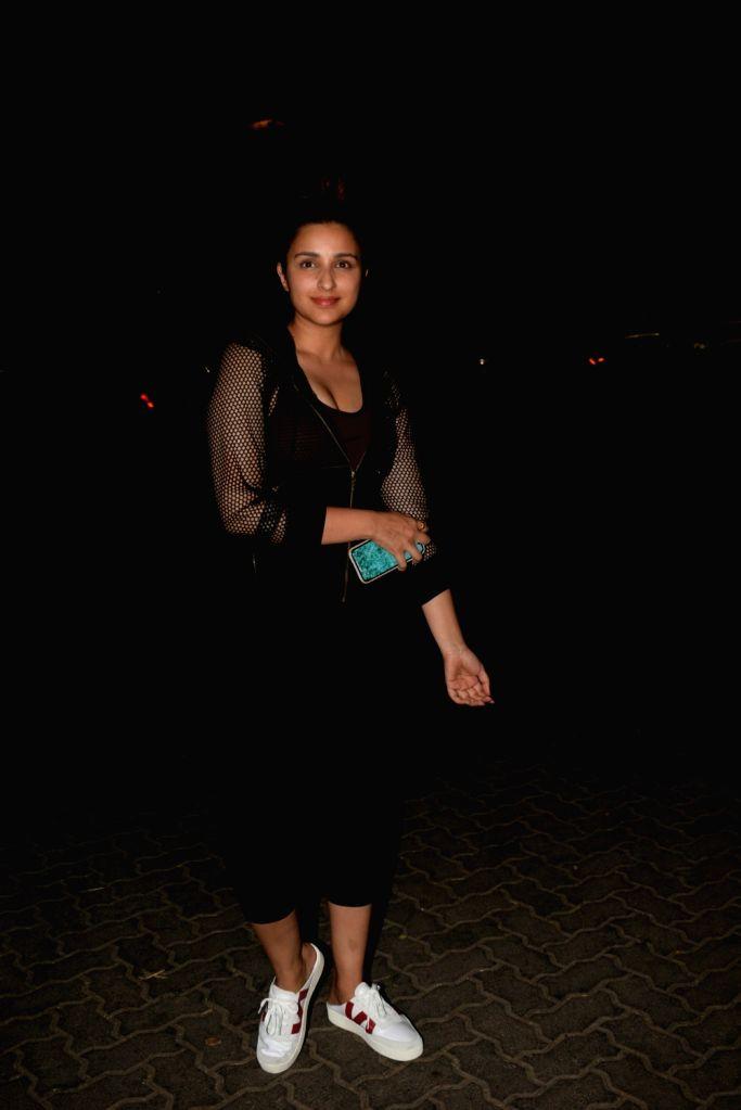 Actress Parineeti Chopra seen during a shoot in Mumbai's Juhu, on April 25, 2019. - Parineeti Chopra