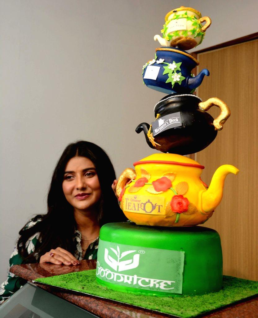 Actress Parno Mittra during the launch of Goodricke Teapot's premium lounge at Tea Bord in Kolkata on Sep 8, 2019. - Parno Mittra