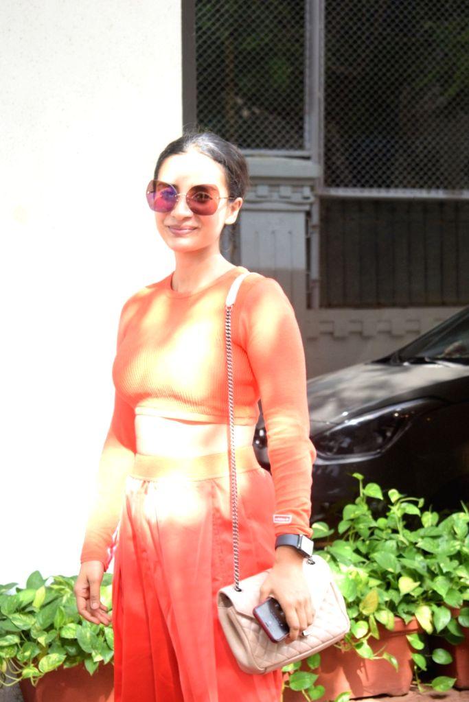 Actress Patralekha arrives at producer Anand Pandit's residence at Juhu, Mumbai on June 15, 2019. - Patralekha