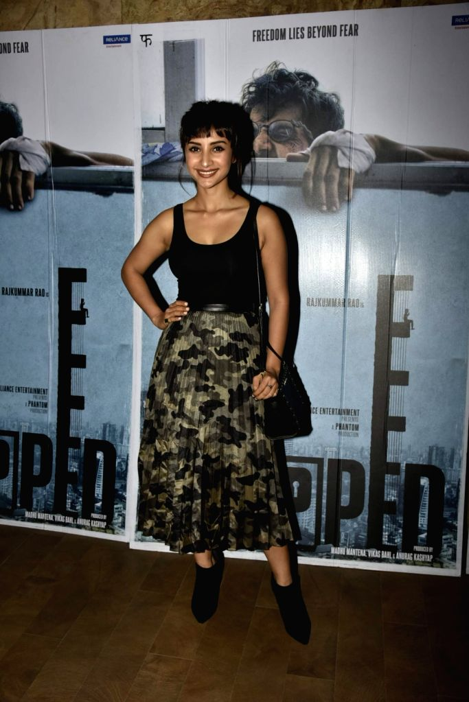Actress Patralekha during the screening of film ''Trapped'' in Mumbai on March 10, 2017. - Patralekha