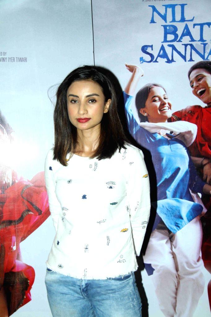 Actress Patralekha during the special screening of film Nil Battey Sannata in Mumbai on April 20, 2016. - Patralekha