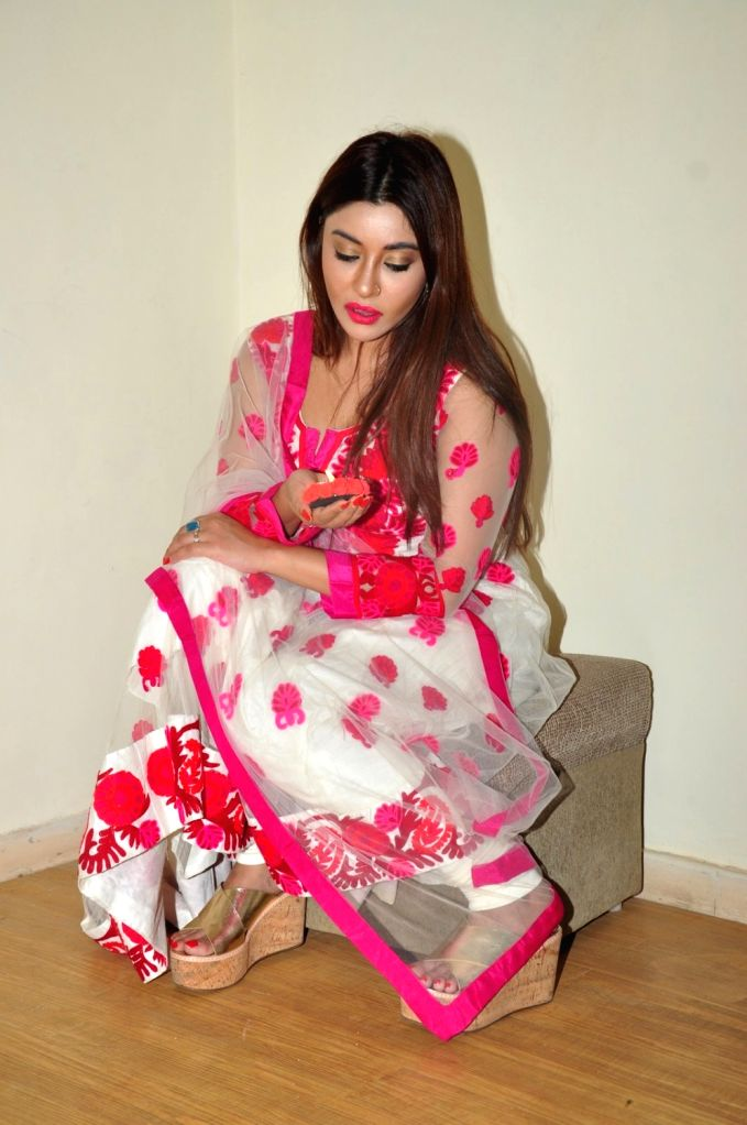 Actress Payal Ghosh during media interaction for Diwali in Mumbai on Oct 26, 2016. - Payal Ghosh