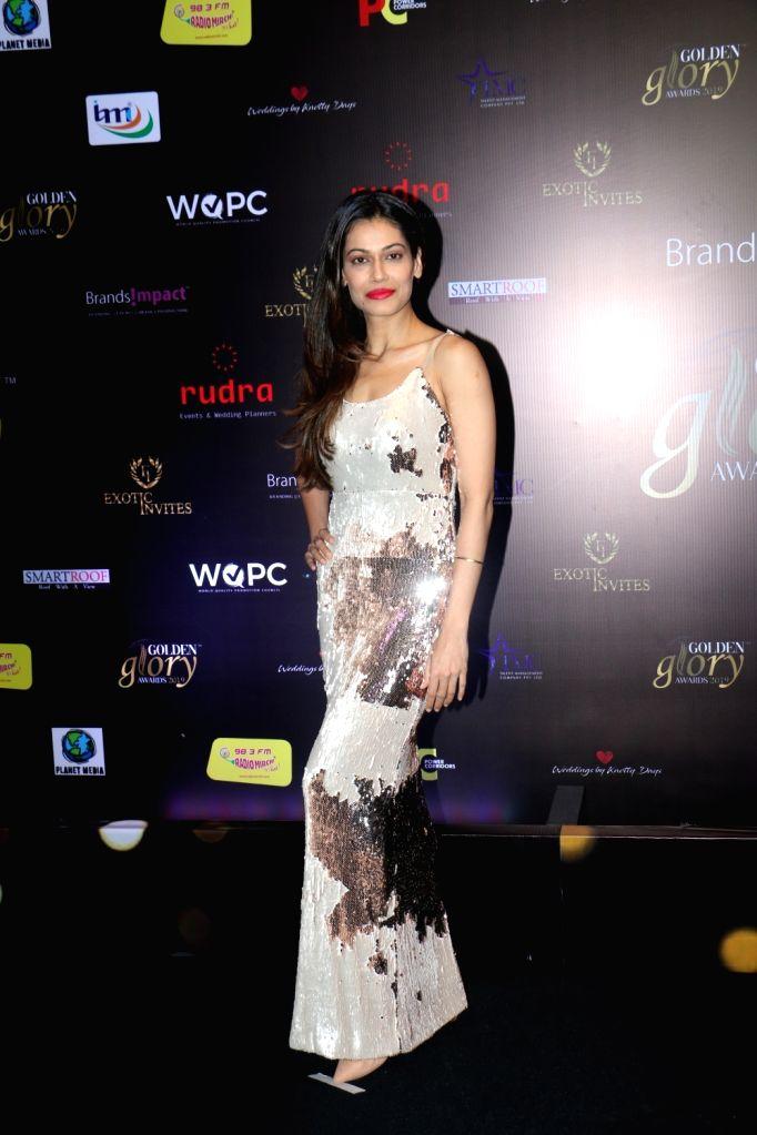 Actress Payal Rohatgi at red carpet of 'Golden Glory Awards 2019' in Mumbai on Sep 21, 2019. - Payal Rohatgi