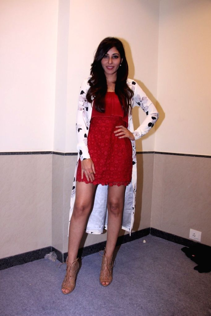 Actress Pooja Chopra during the promotion of their short film Ouch at the Jio MAMI 18th Mumbai Film Festival, in Mumbai on Oct 22, 2016. - Pooja Chopra